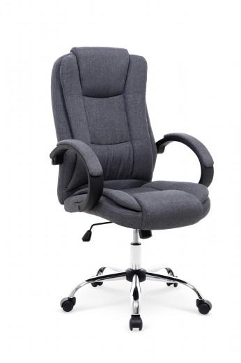 Scaun de birou directorial, tapitat cu stofa Relax 2 Gri inchis, l64xA75xH110-118 cm