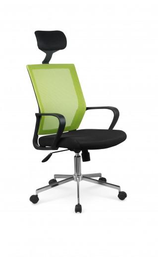 Scaun de birou ergonomic Acapulco Black / Green, l58xA51xH117-126 cm