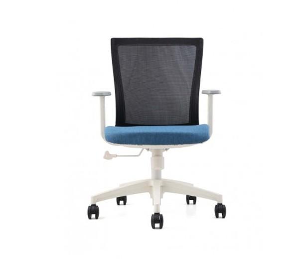 Scaun de birou ergonomic, tapitat cu stofa Novo S170 Blue, l62xA45xH89-97 cm