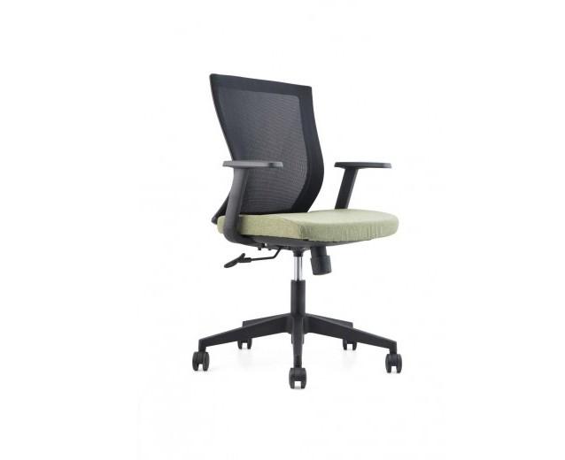 Scaun de birou ergonomic, tapitat cu stofa Novo S170 Green, l62xA45xH89-97 cm