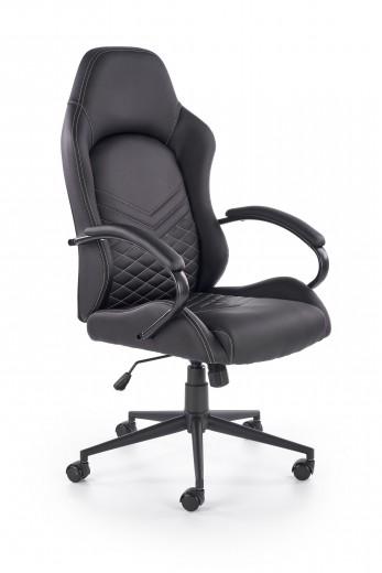 Scaun de birou ergonomic, tapitat cu piele ecologica Lifan Negru, l62xA68xH119-127 cm
