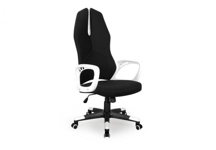 Scaun de birou ergonomic tapitat cu stofa Cougar II Black / White, l62xA60xH119-129 cm