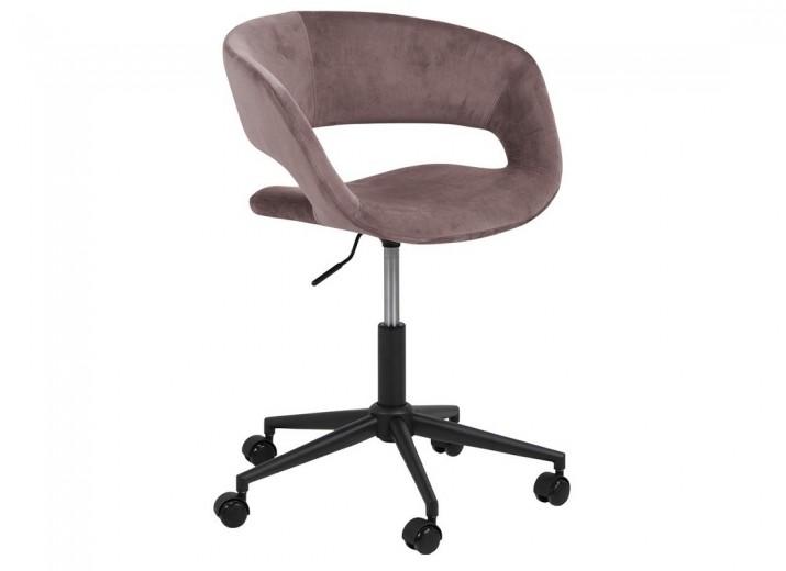 Scaun de birou ergonomic, tapitat cu stofa Grace Velvet Roz Inchis, l56xA54xH87 cm