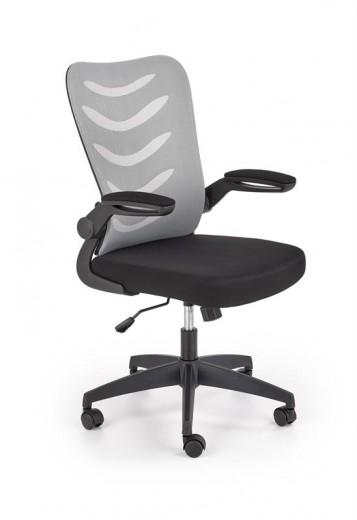Scaun de birou ergonomic tapitat cu stofa Lovren Gri / Negru, l59xA62xH97-104 cm