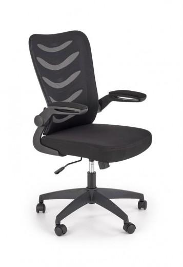 Scaun de birou ergonomic tapitat cu stofa Lovren Negru, l59xA62xH97-104 cm