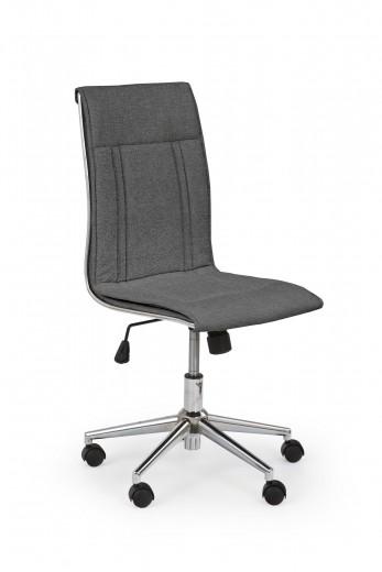 Scaun de birou ergonomic, tapitat cu stofa Porto 3 Gri inchis, l44xA57xH97-107 cm