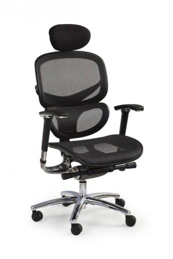 Scaun de birou ergonomic tapitat cu stofa President Negru, l65xA62xH122-130 cm