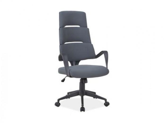 Scaun de birou ergonomic tapitat cu stofa Q-889 Gri, l64xA49xH118-128 cm