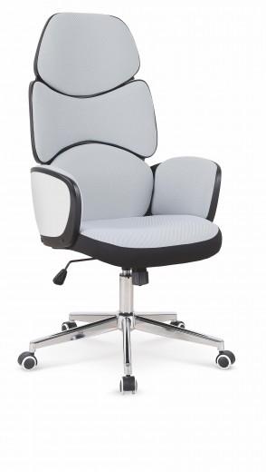 Scaun de birou ergonomic, tapitat cu stofa Sanford Gri deschis / Negru, l65xA60xH121-131 cm