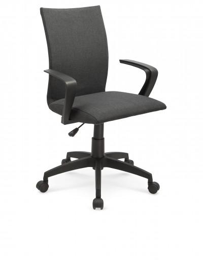 Scaun de birou ergonomic, tapitat cu stofa Teddy Gri, l59xA57xH87-96 cm