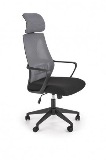 Scaun de birou ergonomic tapitat cu stofa Valdez Gri / Negru, l64xA60xH116-122 cm
