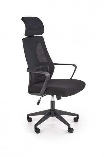 Scaun de birou ergonomic tapitat cu stofa Valdez Negru, l64xA60xH116-122 cm