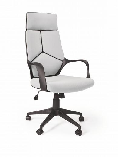Scaun de birou ergonomic tapitat cu stofa Voyager Gri deschis / Negru, l64xA61xH115-125 cm