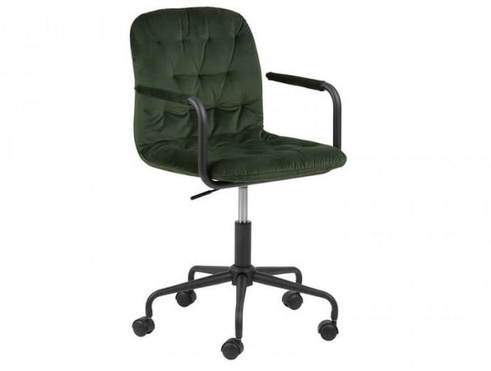 Scaun de birou ergonomic tapitat cu stofa Wendy Velvet Verde, l51,5xA54,5xH83,5 cm