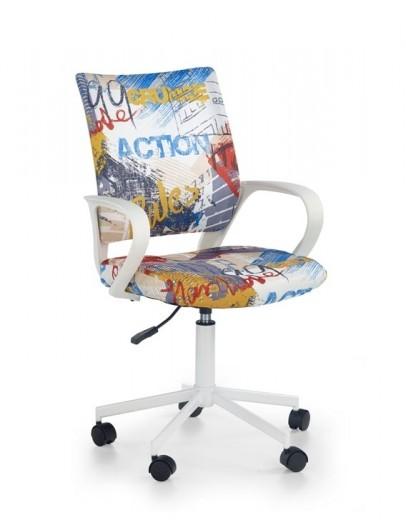 Scaun de birou pentru copii, tapitat cu stofa Ibis Freestyle, l53xA59xH88-100 cm