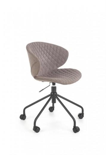Scaun de birou ergonomic tapitat cu stofa Dante Gri, l56xA60xH79-85 cm