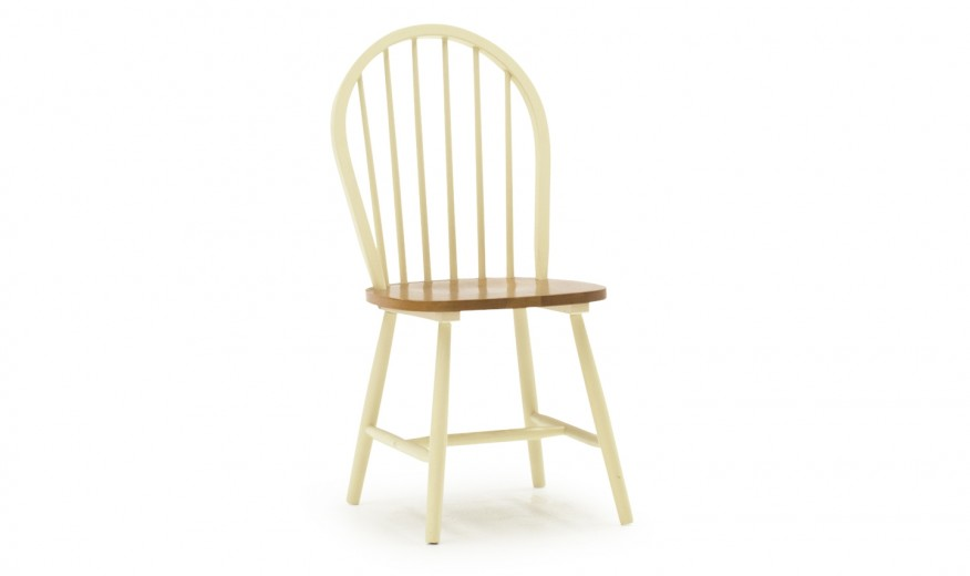 Scaun din lemn de cauciuc Windsor Buttermilk, l46xA49xH94 cm