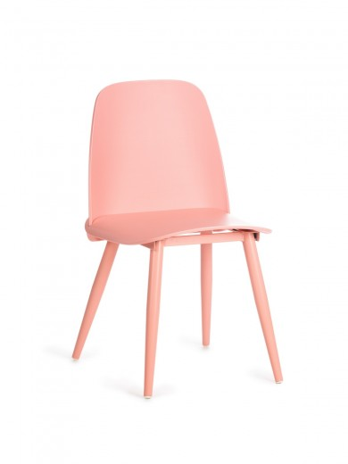 Scaun din plastic, cu picioare metalice Sting Pink, l50xA46xH80cm