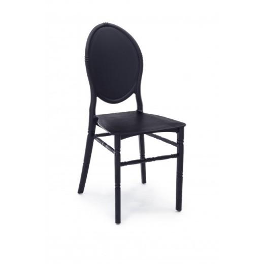 Scaun din plastic Harris Negru, l40xA39xH90 cm