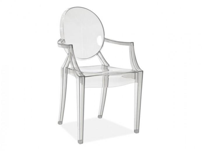 Scaun din plastic Luis Transparent, l54xA42xH92 cm