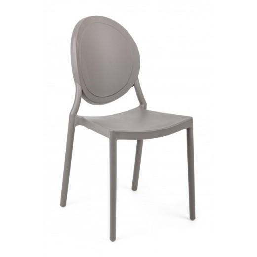 Scaun din plastic Shannon Gri, l40,5xA54xH85 cm
