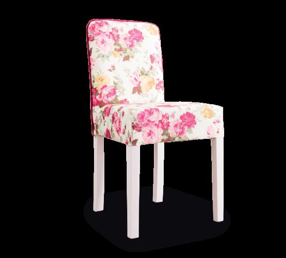 Scaun pentru copii, tapitat cu stofa cu picioare din lemn Summer Flowers, l44xA49xH87 cm