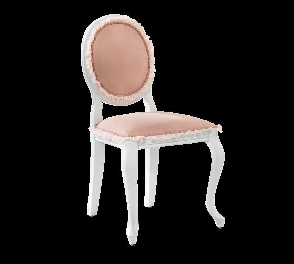 Scaun pentru copii tapitat cu stofa si picioare din lemn Dream Somon, l48xA52xH90 cm