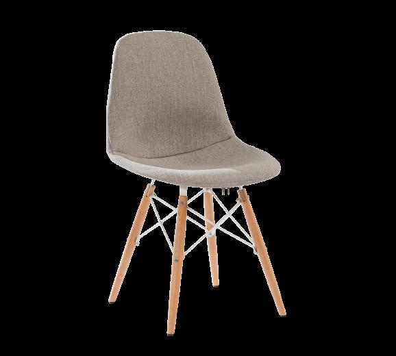 Scaun pentru copii tapitat cu stofa si picioare din lemn Dynamic Grej, l50xA50xH85 cm