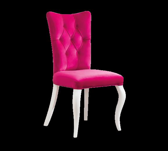 Scaun pentru copii, tapitat cu stofa si picioare din lemn Rosa Pink, l55xA56xH84 cm