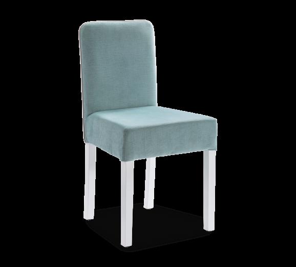 Scaun pentru copii tapitat cu stofa si picioare din lemn Summer Bleu, l44xA49xH87 cm