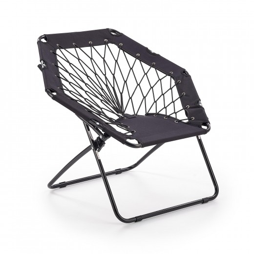 Scaun pliabil pentru copii, din metal si poliester Widget Black, l83xA72xH75 cm