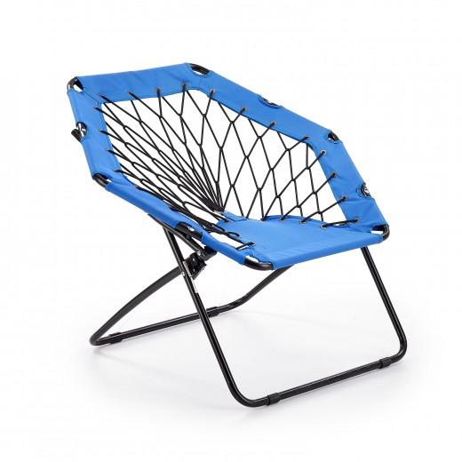 Scaun pliabil pentru copii, din metal si poliester Widget Blue / Black, l83xA72xH75 cm