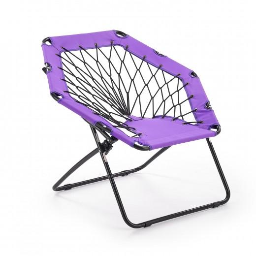 Scaun pliabil pentru copii, din metal si poliester Widget Purple / Black, l83xA72xH75 cm