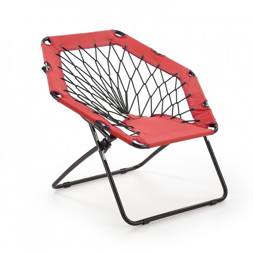 Scaun pliabil pentru copii, din metal si poliester Widget Red / Black, l83xA72xH75 cm