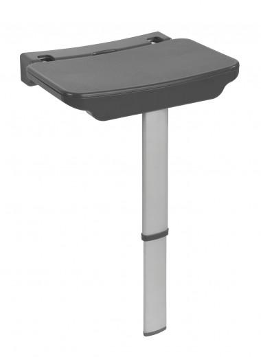 Scaun pliabil pentru dus cu picior din aluminiu, Secura Premium Antracit, l37xA30,5xH56,5 cm