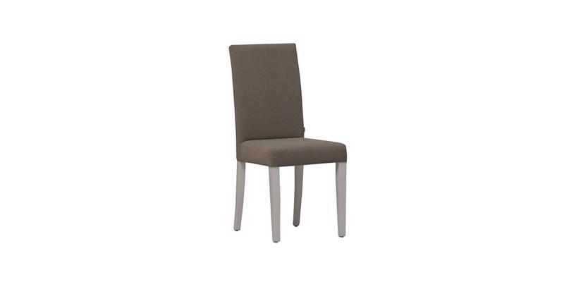 Scaun tapitat cu stofa, cu picioare din lemn Riena Grej, l49xA40xH93 cm