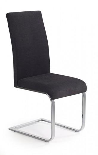 Scaun tapitat cu stofa, cu picioare metalice K110 Graphite, l42xA56xH100 cm