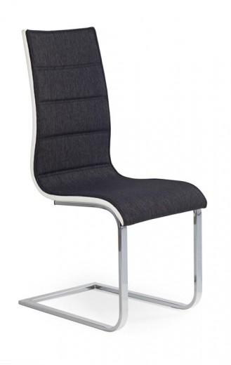 Scaun tapitat cu stofa si piele ecologica, cu picioare metalice K105 Graphite, l42xA56xH99 cm