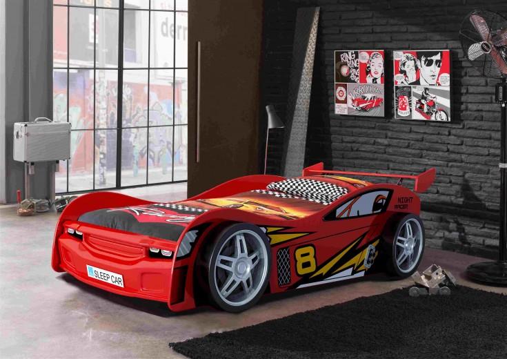 Pat pentru copii Night Racer Red