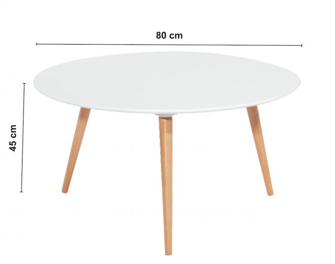 Masa de cafea Nolan C, Ø80xh45 cm