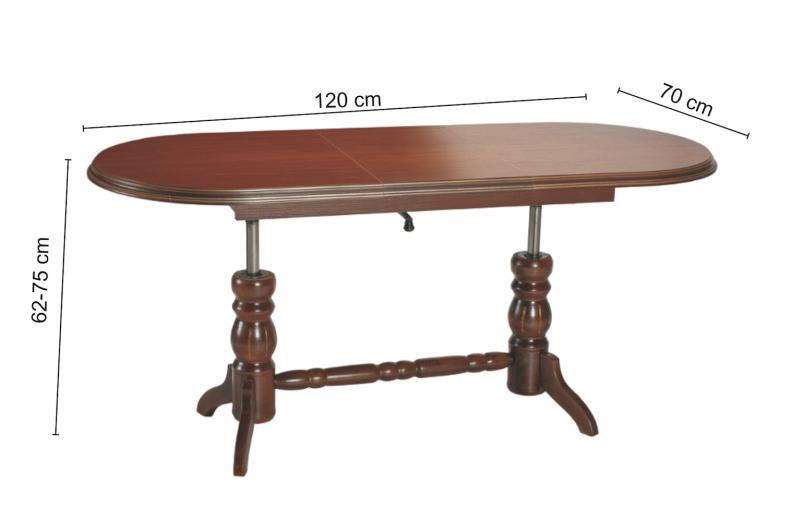 Masa din lemn si furnir Daniel ( S )