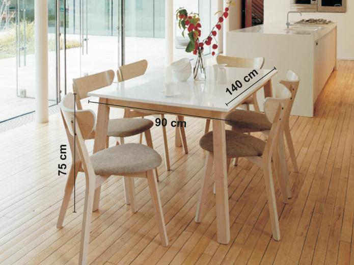 Masa extensibila din lemn masiv si MDF Narvik, L140-180xl90xh75 cm