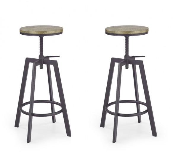 Set 2 scaune de bar H-64 Coffee