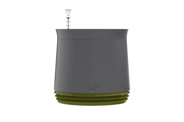 Purificator natural de aer cu ghiveci pentru plante Airy Grey / Late Spring