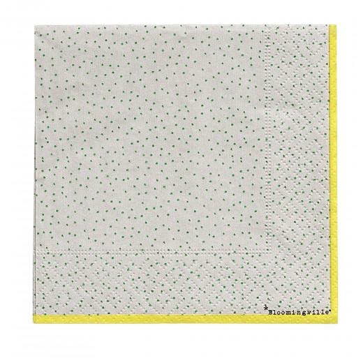 Servetele de hartie Napkin Carla Verde, 25 x 25 cm, 20 bucati