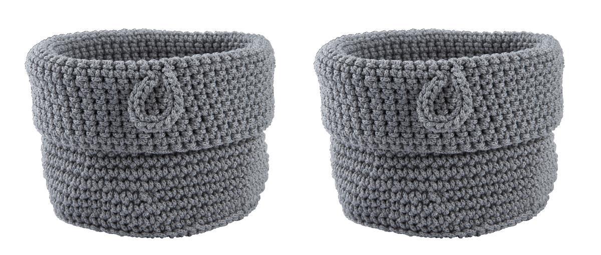 Set 2 cosuri tricotate pentru depozitare Roll, Ø 11xH13 cm, Zone Denmark