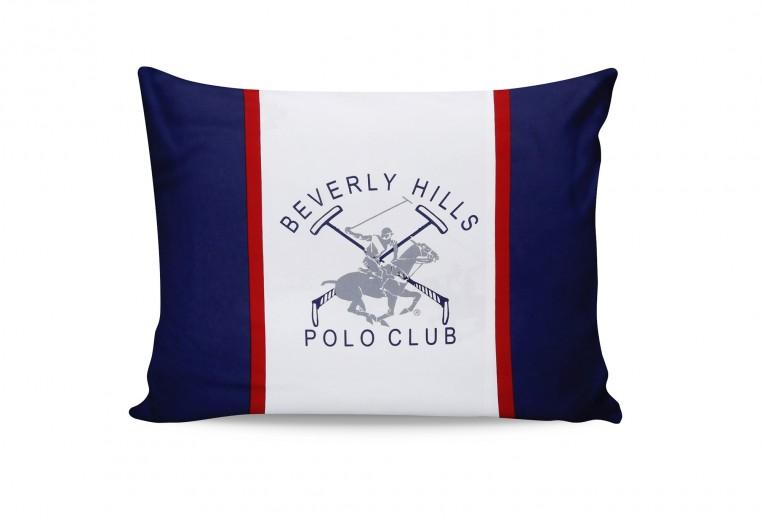 Set 2 fete perna din bumbac, Beverly Hills Polo Club BHPC 001 Bleumarin, 50 x 70 cm