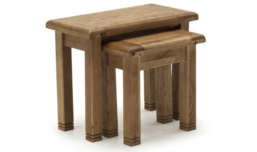 Set 2 mese din lemn de stejar Danube Oak, L64xl35xH54 cm