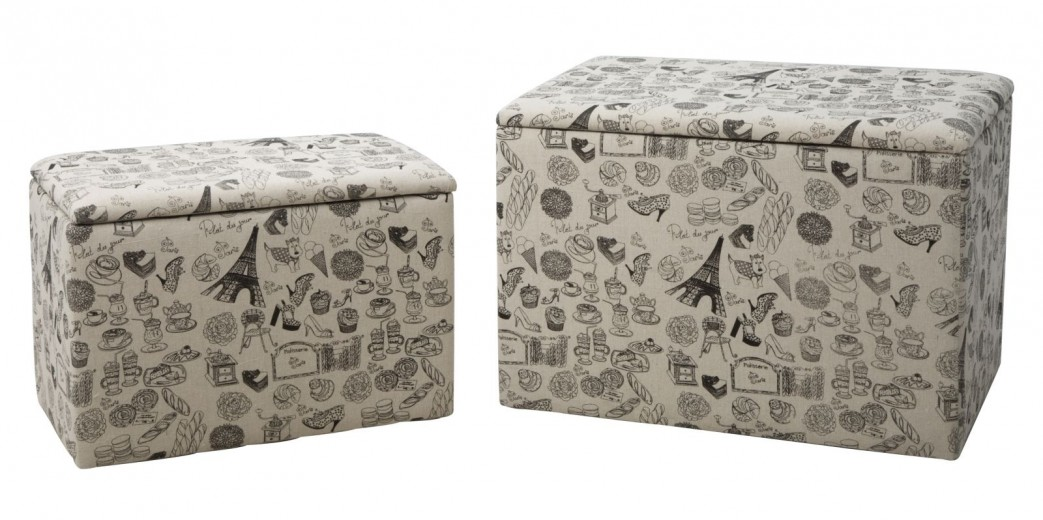 Set 2 cutii cu spatiu de depozitare Paris