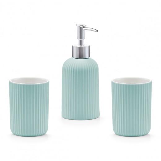Set 3 accesorii pentru baie din ceramica, Mint